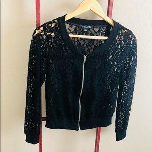 Black Lace Zip-up!
